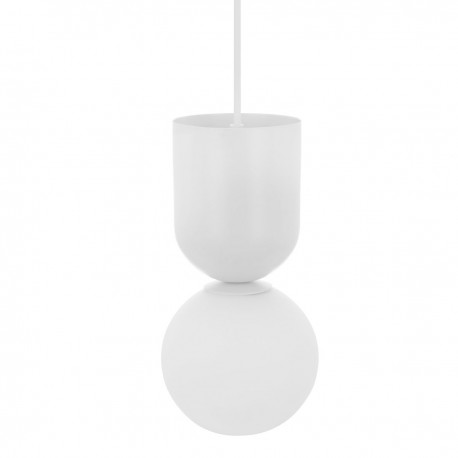 Ceiling lamp LUOTI white pendant lamp with a glass shade UMMO