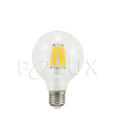 LED bulb G80 7W transparent warm color Polux