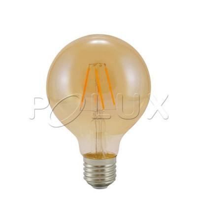 Decorative eco Vintage Amber LED light bulb 80mm 4W Polux