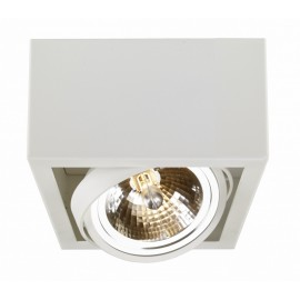 Cube 1 surface-mounted ceiling lamp white | black grey