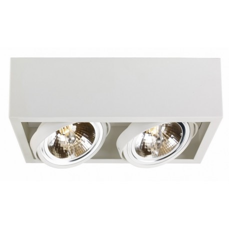 Cube 2 surface-mounted ceiling lamp white | black grey