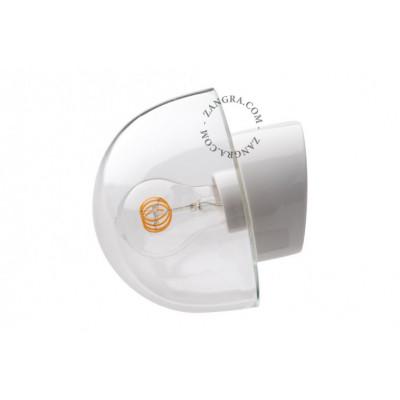 Porcelain wall lamp with a glass shade light.o.016.wa.w.glass027 Zangra