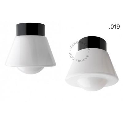 Lampa porcelanowa ze szklanym kloszem light.o.016.c.b.glass019 Zangra