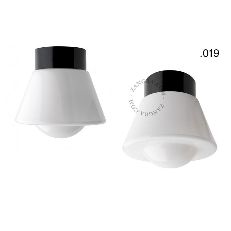 Porcelain lamp with a glass shade light.o.016.c.b.glass019 Zangra