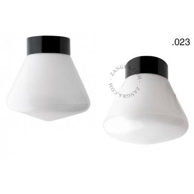 Porcelain lamp with a glass shade light.o.016.c.b.glass023 Zangra