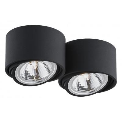 Lumos 2 oprawa stropowa natynkowa biały | czarny