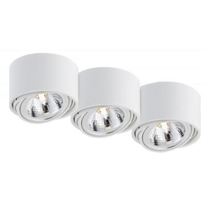 Lumos 3 surface-mounted ceiling lamp white | black