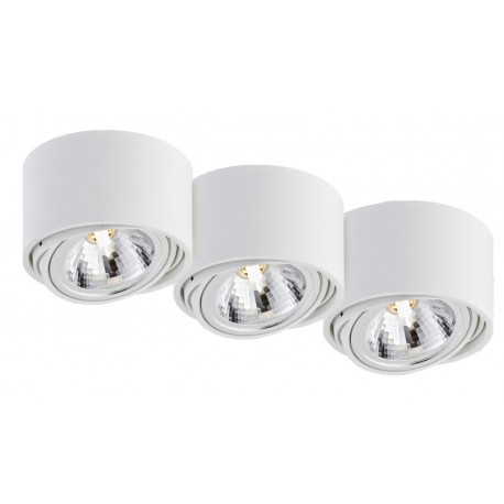 Lumos 3 surface-mounted ceiling lamp white | black