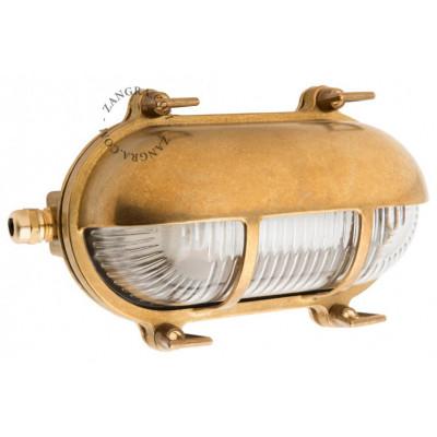 Lamp, bulkhead luminaire, gold light.o.071.001 Zangra