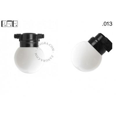 Wall lamp with a plastic shade light.o.119.b.glass013 Zangra