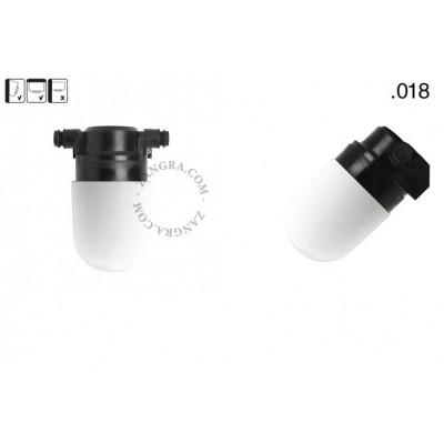 Lampa ścienna ze szklanym kloszem light.o.119.b.glass018 Zangra