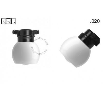 Lampa ścienna ze szklanym kloszem light.o.119.b.glass020 Zangra