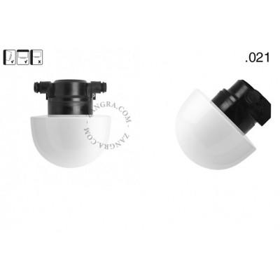 Lampa ścienna ze szklanym kloszem light.o.119.b.glass021 Zangra