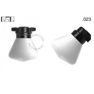 Lampa ścienna ze szklanym kloszem light.o.119.b.glass023 Zangra