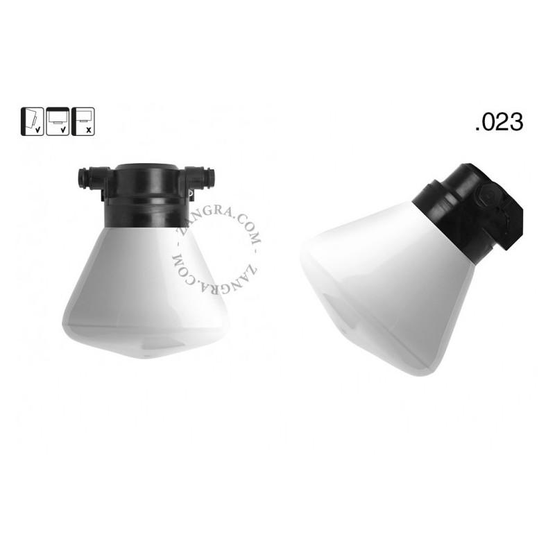 Wall lamp with a glass shade light.o.119.b.glass023 Zangra