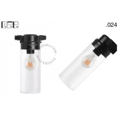Lampa ścienna ze szklanym kloszem light.o.119.b.glass024 Zangra