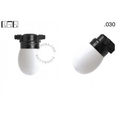 Lampa ścienna ze szklanym kloszem light.o.119.b.glass030 Zangra