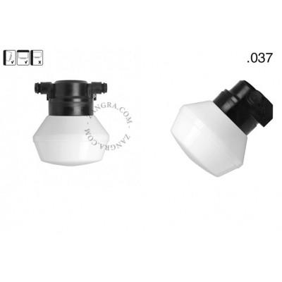 Lampa ścienna ze szklanym kloszem light.o.119.b.glass005 Zangra