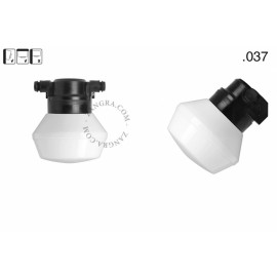 Wall lamp with a glass shade light.o.119.b.glass005 Zangra