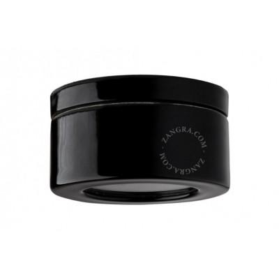 Black porcelain luminaire light.o.068.b Zangra