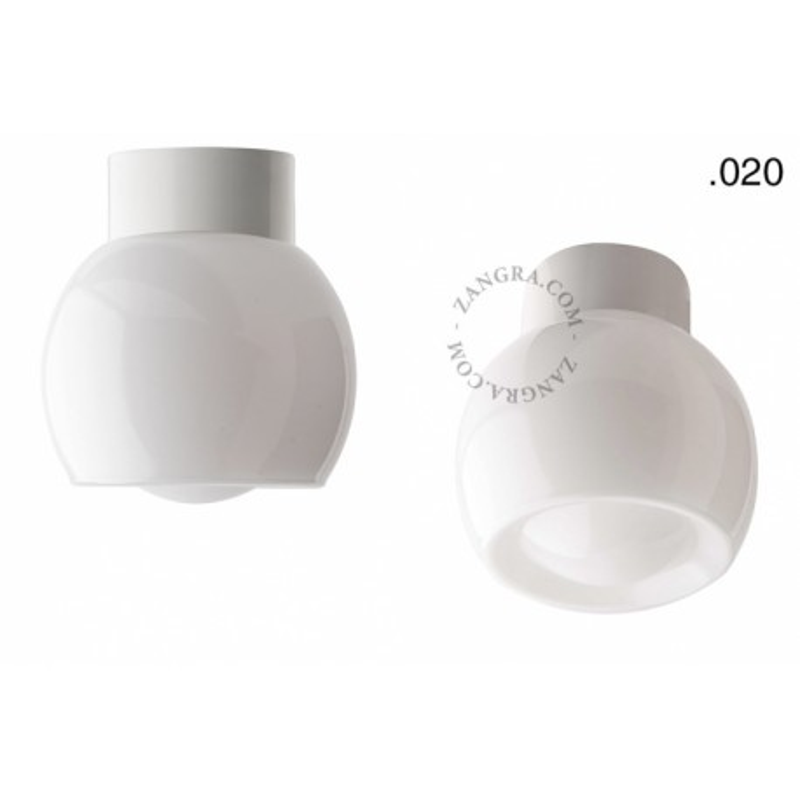 Porcelain lamp with a glass shade light.o.016.c.w.glass020 Zangra