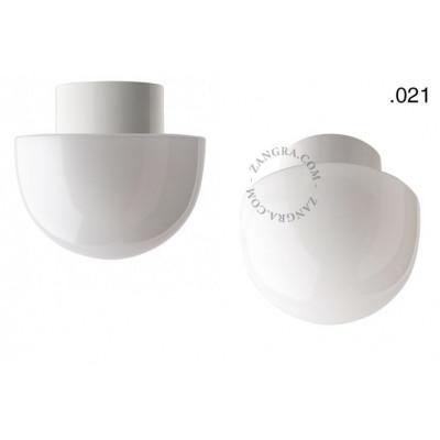 Porcelain lamp with a glass shade light.o.016.c.w.glass021 Zangra