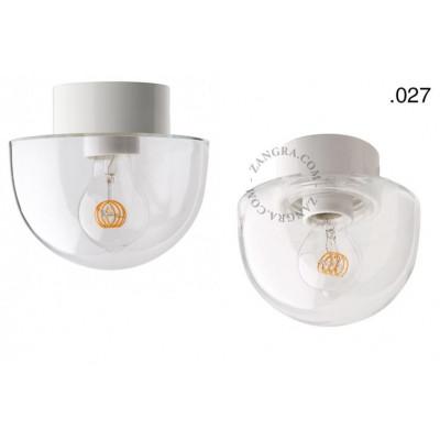 Lampa porcelanowa ze szklanym kloszem light.o.016.c.w.glass027 Zangra