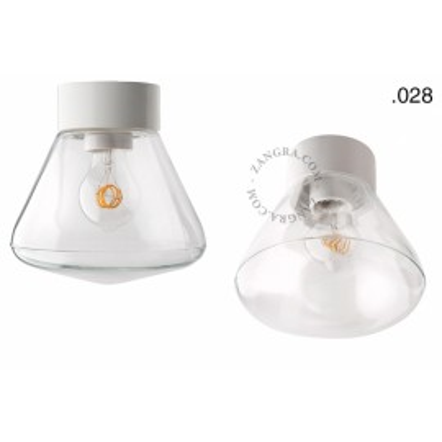Porcelain lamp with a glass shade light.o.016.c.w.glass028 Zangra