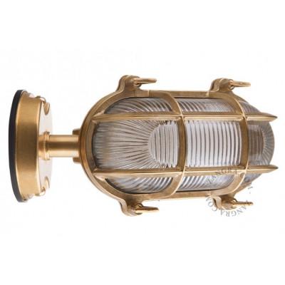brass well glass 'bulkhead' fixture light.o.020.007 Zangra