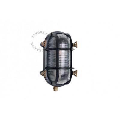 Black 'bulkhead' fixture light.o.020.b.002 Zangra