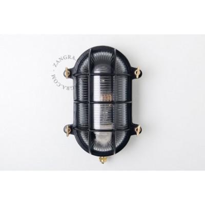 Black 'bulkhead' fixture light.o.020.b.001 Zangra