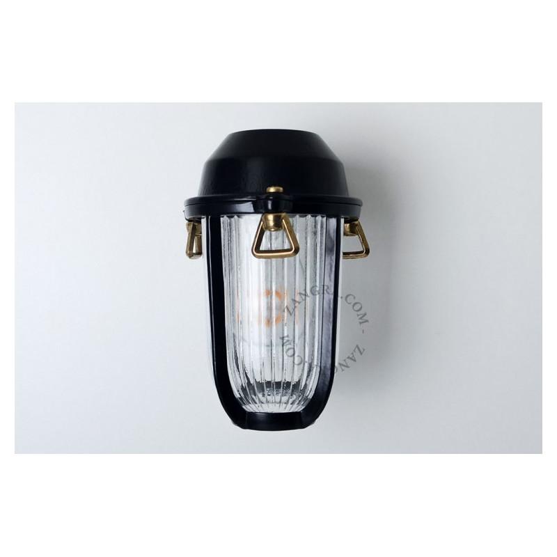 Black brass wall lamp light.o.005.b.001 Zangra