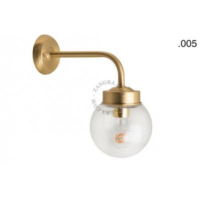 Wall lamp / sconce brass light.o.101.go.glass005Zangra