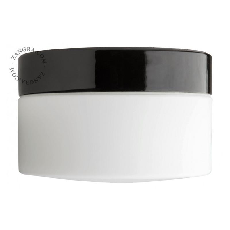 Porcelain binding black / white light.o.067.b Zangra