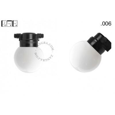 Lampa ścienna ze szklanym kloszem light.o.119.b.glass006 Zangra