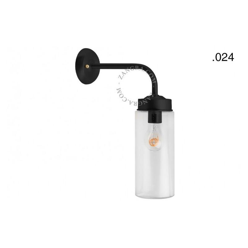 Wall lamp / sconce brass light.o.101.b.glass024 Zangra