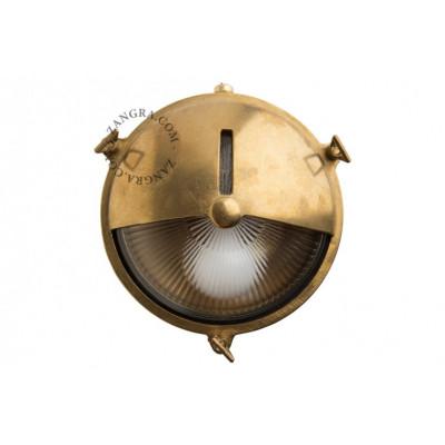 Lampa ścienna, oprawa mosiężna, grodziowa light.o.069.001 Zangra