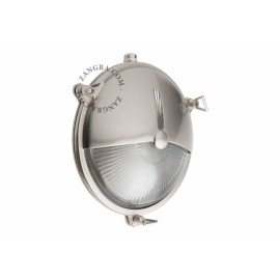 Wall lamp, nickel-plated brass housing, bulkhead light.o.069.002 Zangra