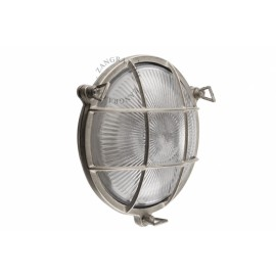 Wall lamp, brass fixture, bulkhead light.o.069.003 Zangra