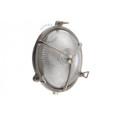 Wall lamp, nickel-plated - brass 'bulkhead' fixture light.084.002 Zangra