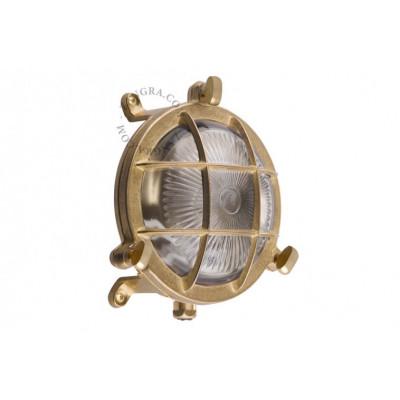 Wall lamp, brass fixture, bulkhead light.o.083.001 Zangra