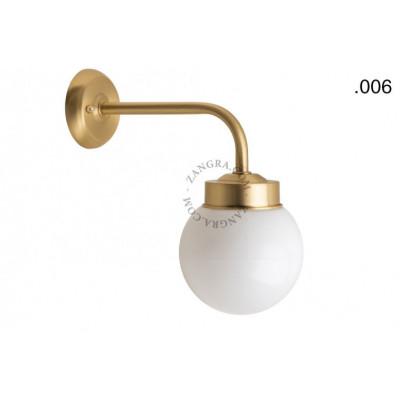 Wall lamp / sconce brass light.o.101.go.glass006 Zangra
