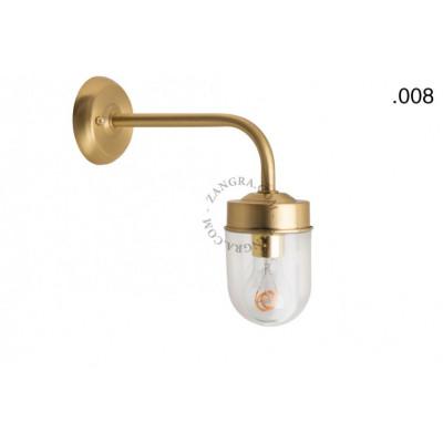 Wall lamp / sconce brass light.o.101.go.glass008 Zangra