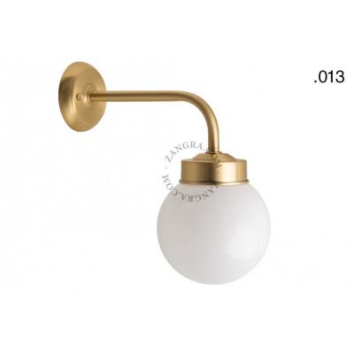 Wall lamp / sconce brass light.o.101.go.glass013 Zangra