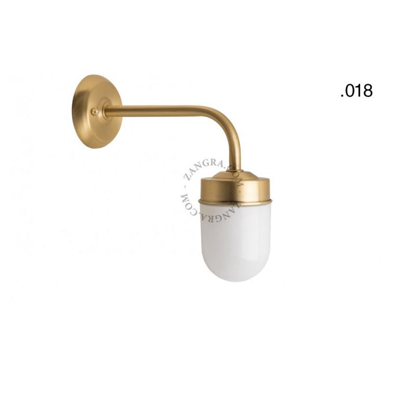 Wall lamp / sconce brass light.o.101.go.glass018 Zangra