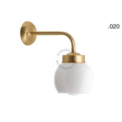 Wall lamp / sconce brass light.o.101.go.glass020 Zangra