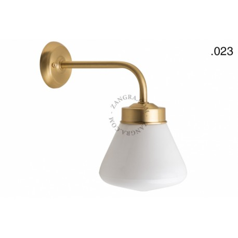 Wall lamp / sconce brass light.o.101.go.glass023 Zangra