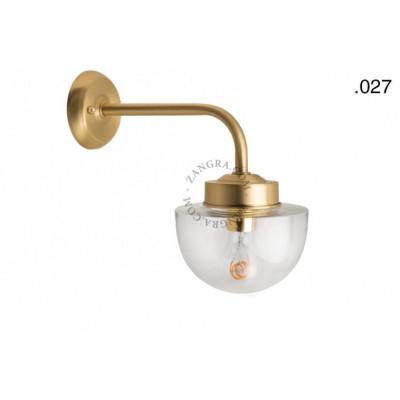 Wall lamp / sconce brass light.o.101.go.glass027 Zangra