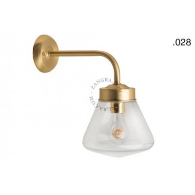 Wall lamp / sconce brass light.o.101.go.glass028 Zangra
