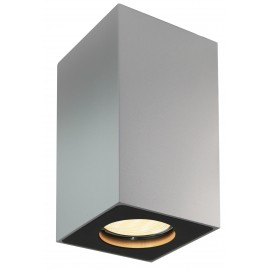 Squar 10 surface-mounted ceiling lamp white | silver